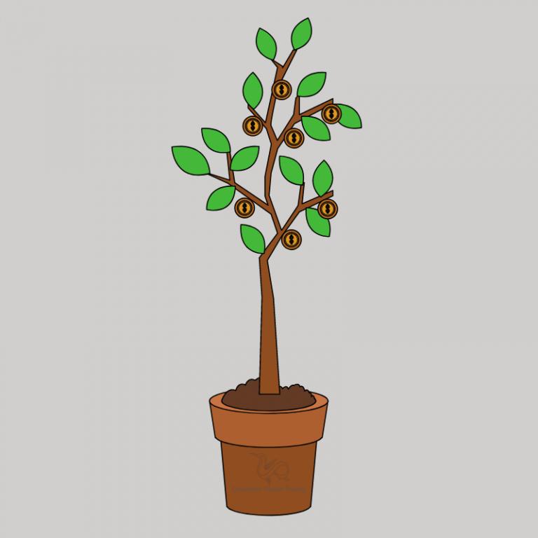 Træ i potteplante