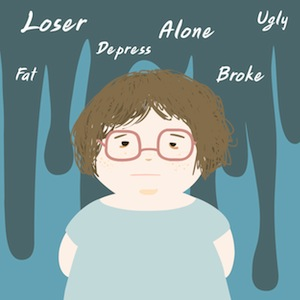 Depri person illustration