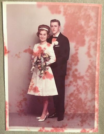 Vibeke Fraling mor og far bryllupsbillede