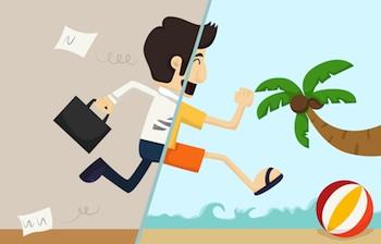 travl mand arbejde og ferie