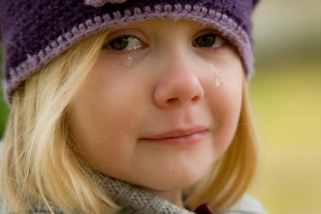 Pige der græder