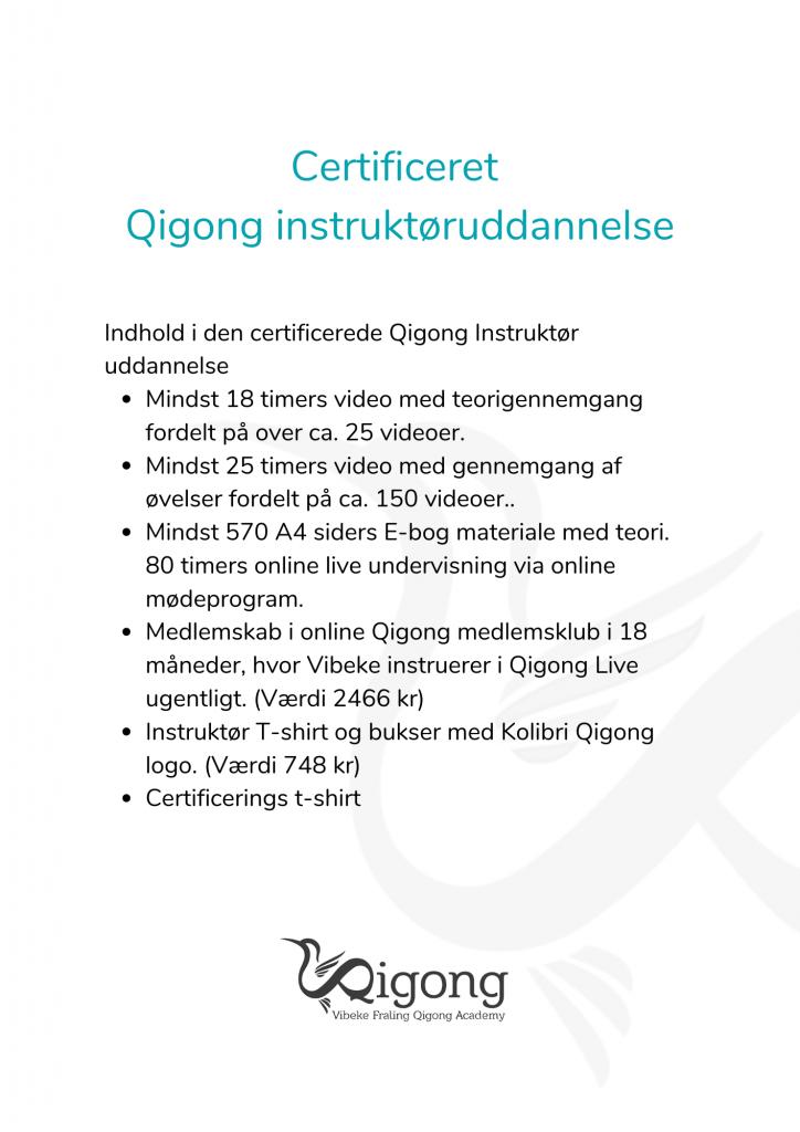 Indhold Certificeret Qigong instruktøruddannelse