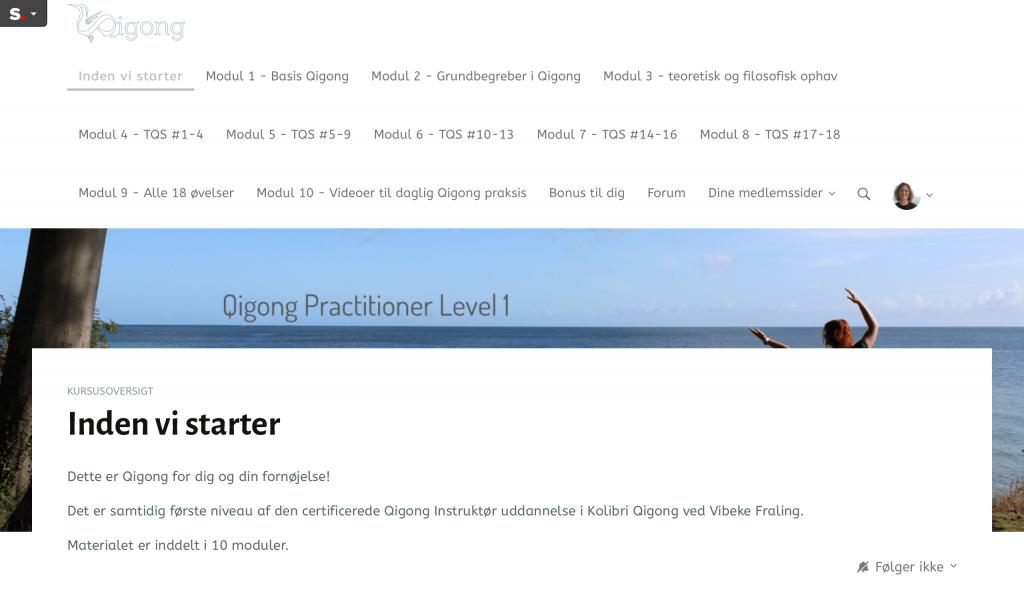 oversigt over moduler i Qigong Practioner