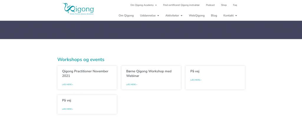 Qigong Academy ny hjemmeside