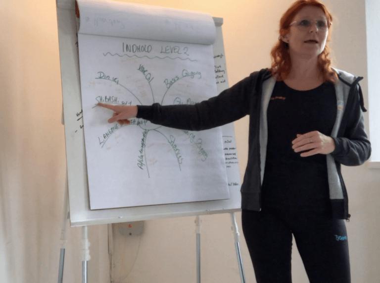 Workshop med Vibeke undeveriser ved flipover
